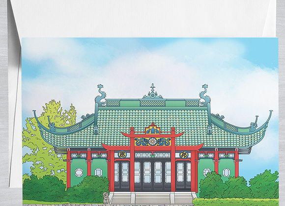 Chinese Tea House Notecard