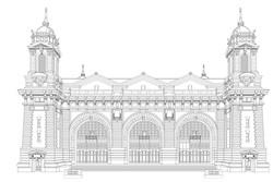 Ellis Island coloroing page
