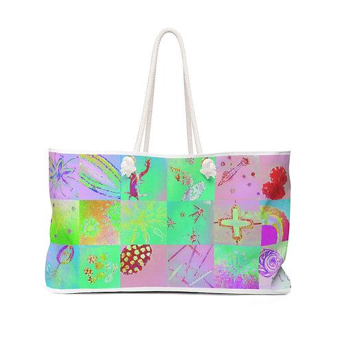 "Weekender Bag - ""Confetti"" by Cindy Pease Roe"