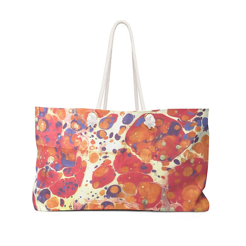 """Weekender Bag - """"Lava Lamp"""" by Amy Worth"""