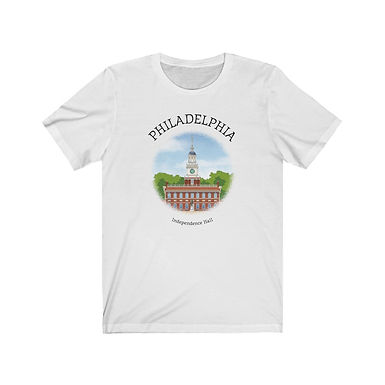 Independence Hall - Unisex Short Sleeve Tee