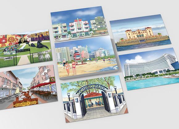 Miami Artistic Postcards - Set of 10