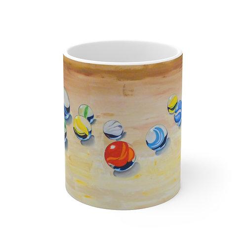 """11oz Mug - """"Lucky 13"""" by Deborah Lennek"""