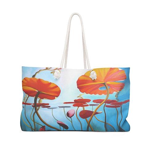"""Weekender Bag - """"Lilies"""" by Deborah Lennek"""