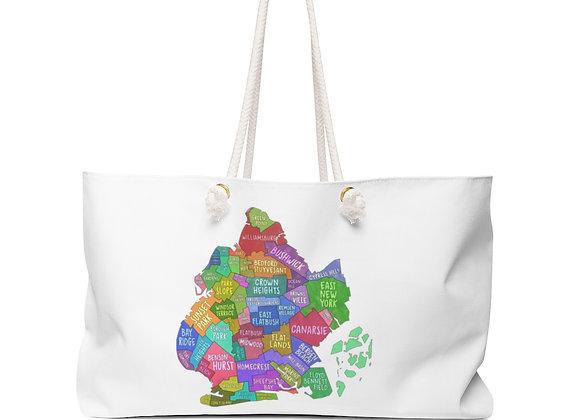 Weekender Bag - Brooklyn Map