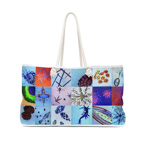 """Weekender Bag - """"Azure"""" by Cindy Pease Roe"""
