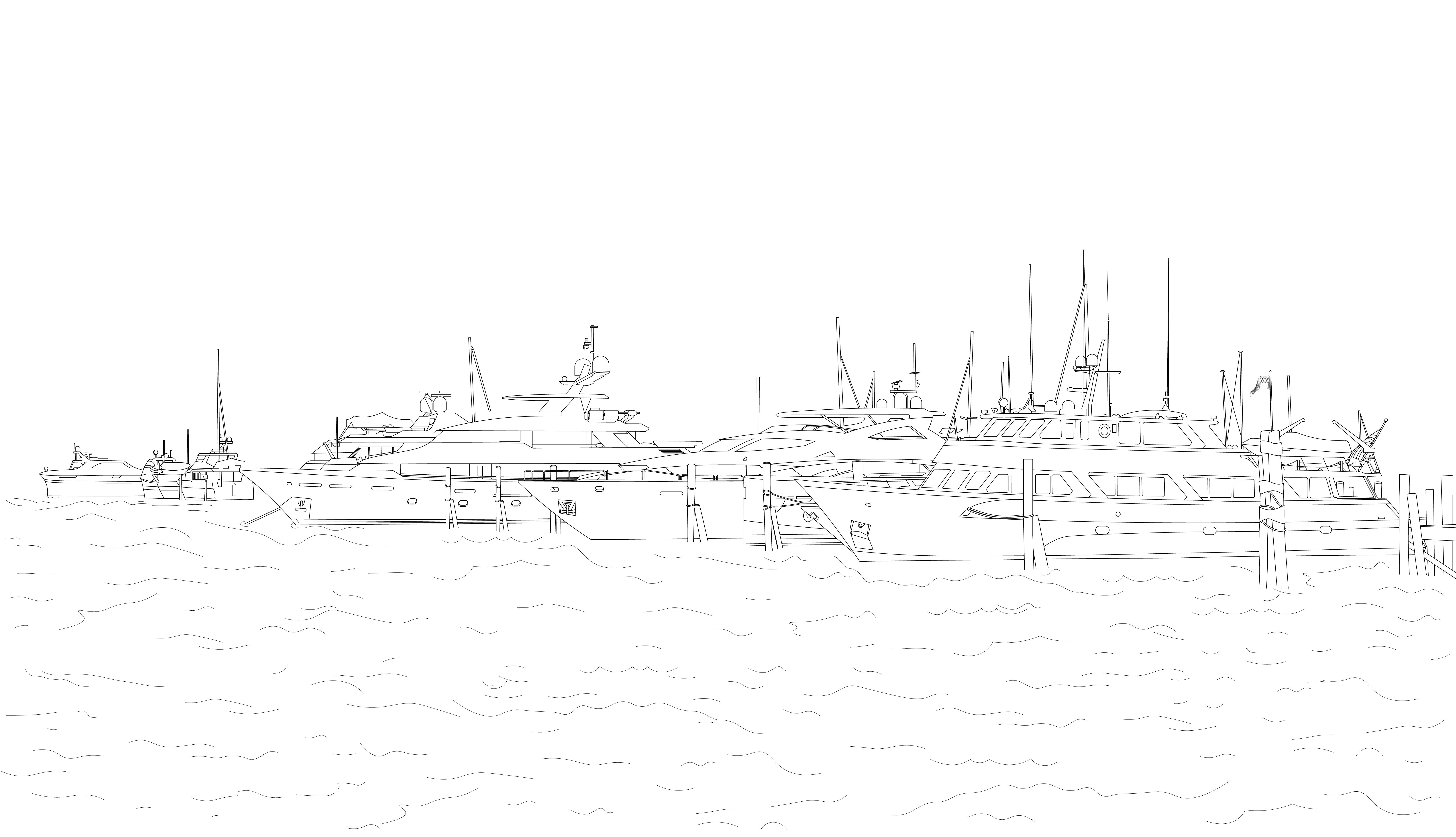 Drawing - Boats