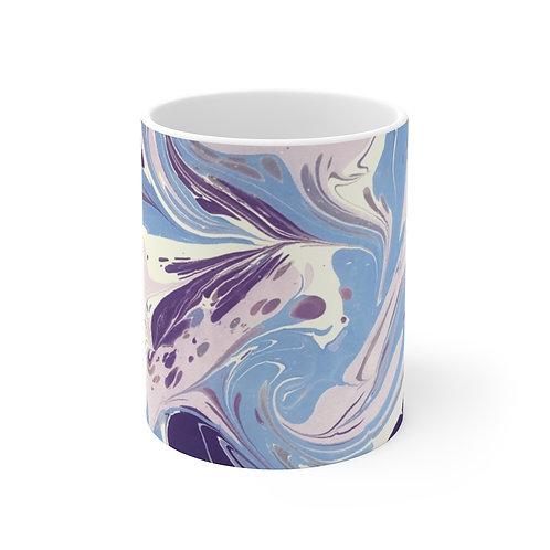 """Mug 11oz - """"Blue Marble"""" by Amy Worth"""