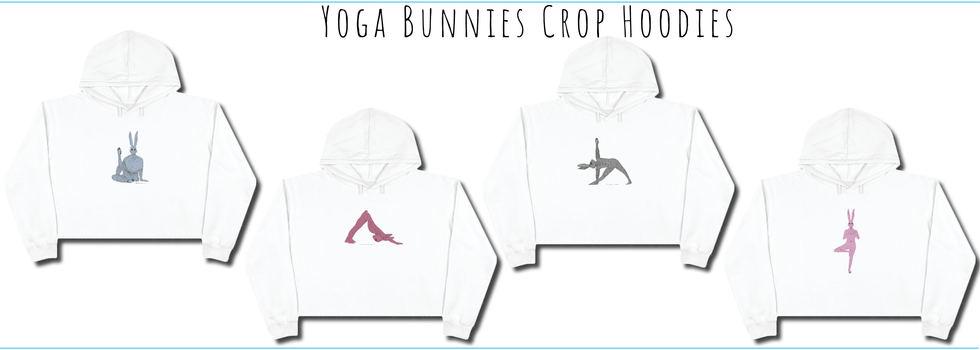 Yoga Bunnies Crop Hoodies