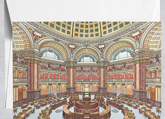Library of Congress Notecard