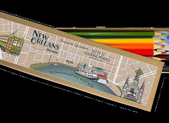 New Orleans Coloring Pencil Set
