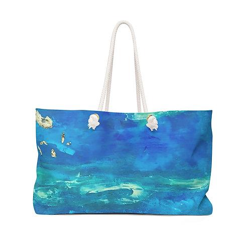 "Weekender Bag - ""Sea Swells"" by Helen M. Weinstein"