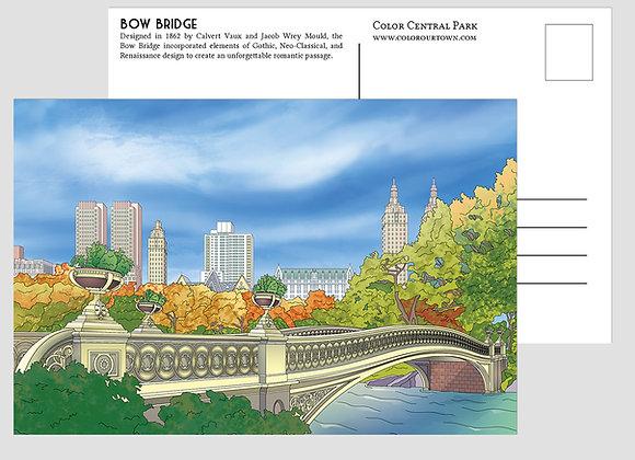 Central Park Artistic Postcards - set of 10