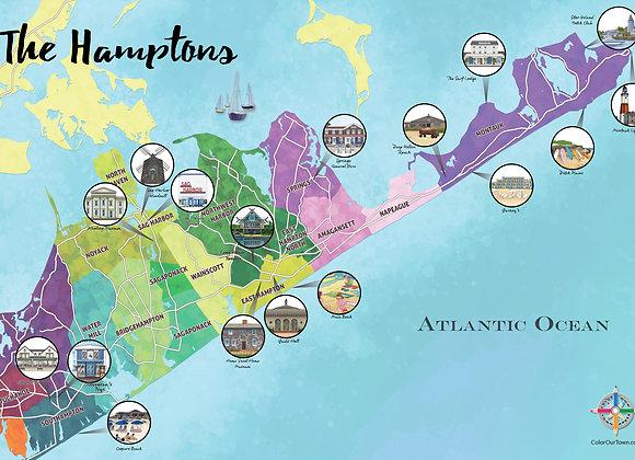 The Hamptons Map
