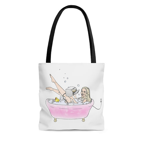 Tote Bag - 'Making Toast in the Tub'