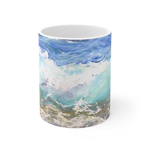 "11oz Mug - ""Waves"" by Isabelle Haran-Leonardi"