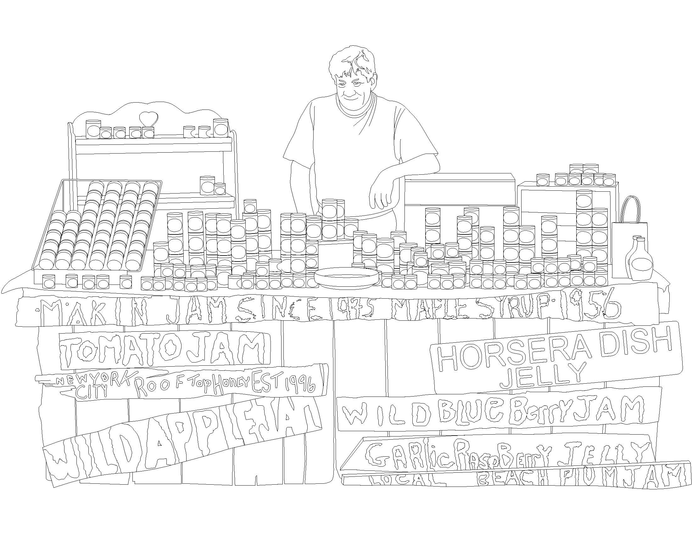 Greenmarket coloring page