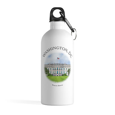 White House Water Bottle