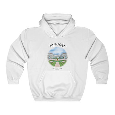 Rosecliff Mansion Unisex Hooded Sweatshirt