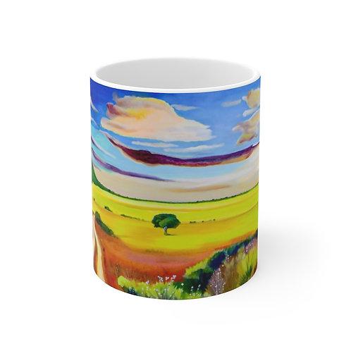 """11oz Mug - """"The Veldt"""" by Deborah Lennek"""
