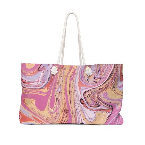 "Weekender Bag - ""Pink Marble"" by Amy Worth"