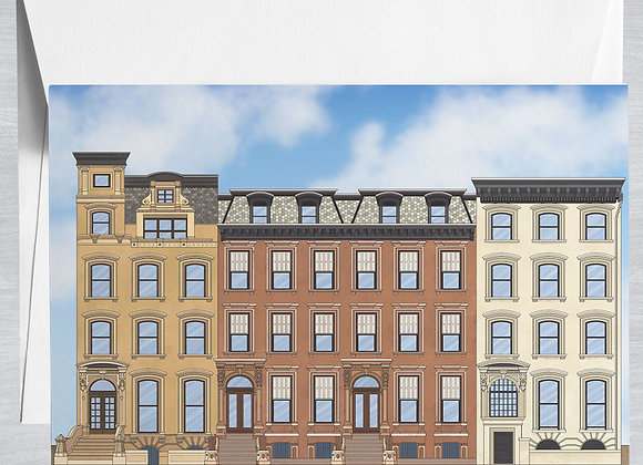 Brooklyn Brownstones Notecard