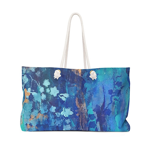 "Weekender Bag - ""Flowers on my Mind"" by Helen M. Weinstein"