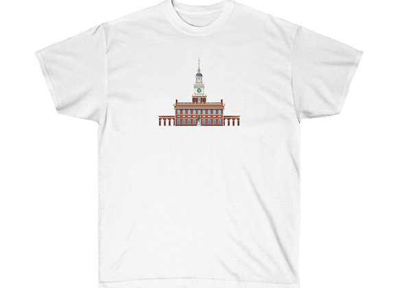 Independence Hall  - Unisex Cotton Tee
