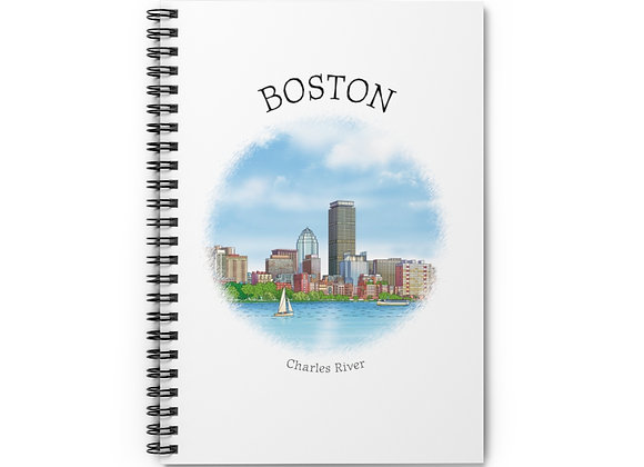 Charles River Spiral Notebook