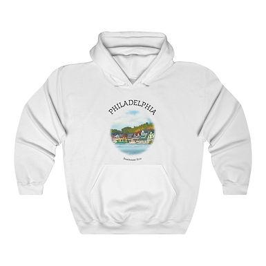 Boathouse Row Unisex Hooded Sweatshirt
