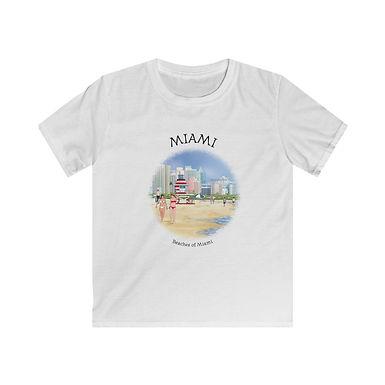 Beaches of Miami Kids Softstyle Tee