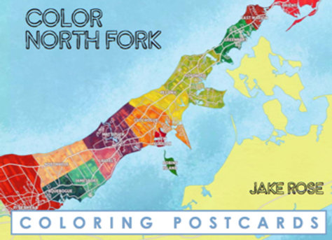 North Fork Coloring Postcard