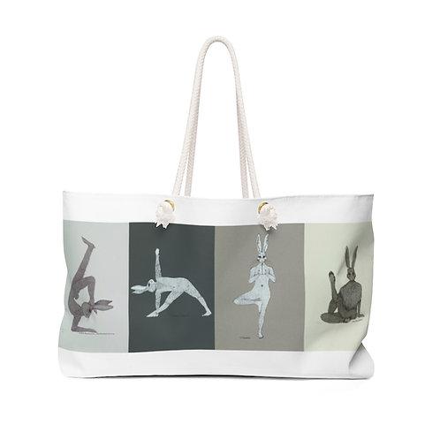 Weekender Bag - Yoga Bunnies - Grey Tones