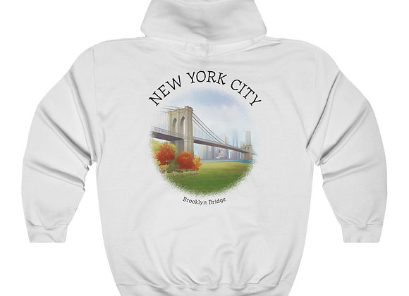 Brooklyn Bridge Unisex Hooded Sweatshirt