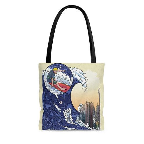 Tote Bag - 'Tsunami Surfing'