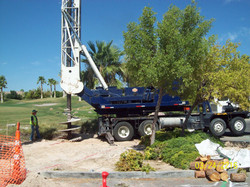 Drilling for caisson