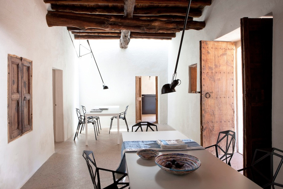 Finca Eulalia's dining room