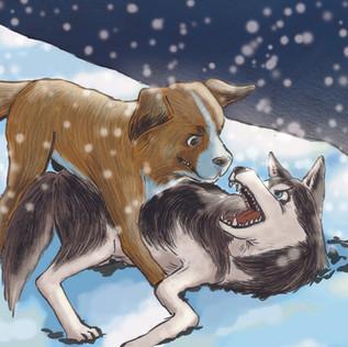 【文學萬花筒】The Adventures of a Dog Named Buck 永不屈服 ―― 《 野性的呼喚》插畫 1