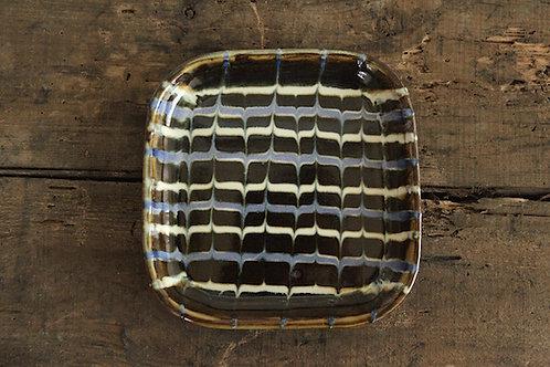 スリップウェア角皿