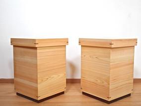 特注 hinoki box stool 納品
