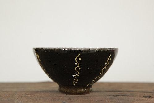 黒釉文様飯椀
