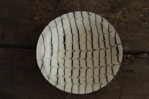 スリップウェア白釉中鉢