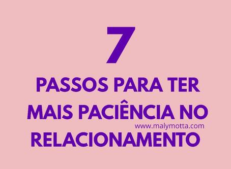 7 passos para você ter paciência com o outro