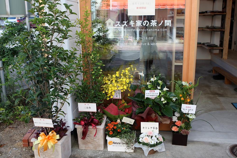 開店お祝いのお花たち