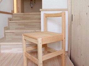 hinoki cube chair 納品