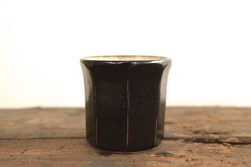黒釉面取湯呑碗