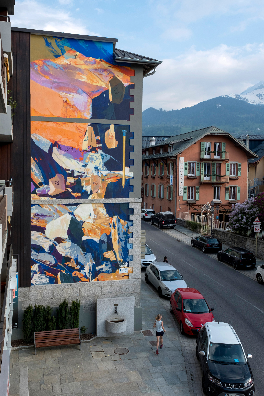 """Rocks, imprint, nail"", Matth Velvet / Zoerism, Saint-Gervais-les-Bains, 2018"