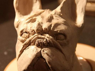Création de Bouledogues en Argile