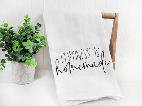 Happiness is homemade svg, Farm svg, Funny Tea Towel,  Decorative Kitchen Towels