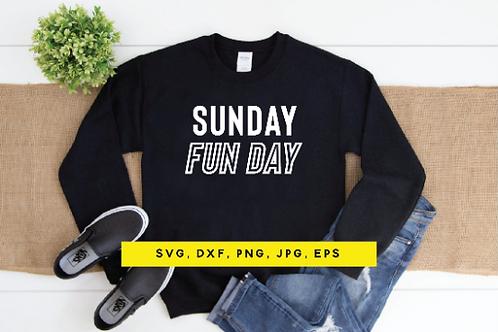 Sunday Funday SVG, Football shirt, Football season, Touchdowns, Tackles, Tailgat